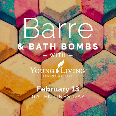 barre bath bombs