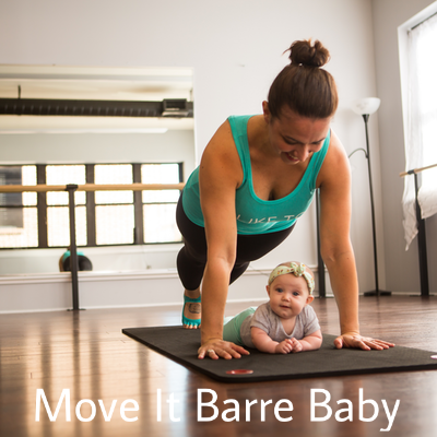 Mommy and Me Baby Exercise Move it Barre Baby