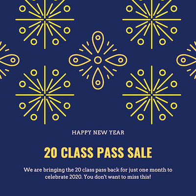 It's 2020 and the 20 class pass is back!
