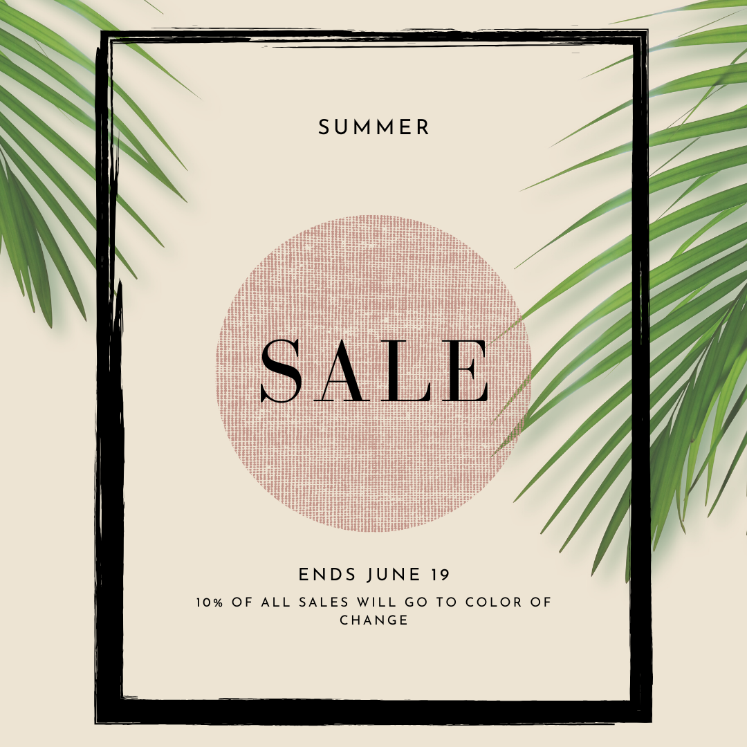 Summer Sale and Giving Back