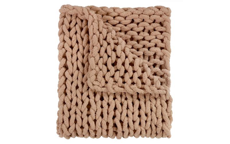 cozy chunky chenille blanket